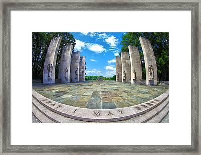 Virginia Tech War Memorial Framed Print by Mitch Cat