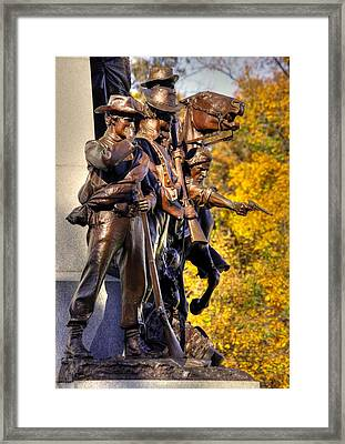 Virginia To Her Sons At Gettysburg - War Fighters - Band Of Brothers 1a Framed Print