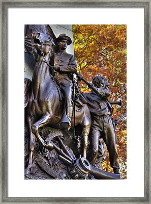 Virginia To Her Sons At Gettysburg - War Fighters - Band Of Brothers 1b Framed Print