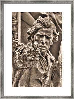 Virginia To Her Sons At Gettysburg - War Fighters - Taking Dead Aim A1 Framed Print