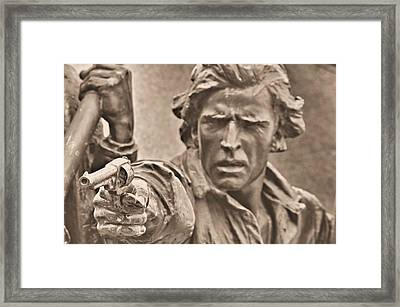 Virginia To Her Sons At Gettysburg - War Fighters - Taking Dead Aim B1 Framed Print