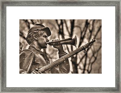 Virginia To Her Sons At Gettysburg - War Fighters - The Call To Arms Framed Print