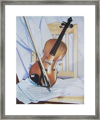 Virginia's Violin Framed Print by Constance Drescher