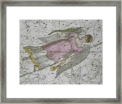 Virgo From A Celestial Atlas Framed Print by A Jamieson