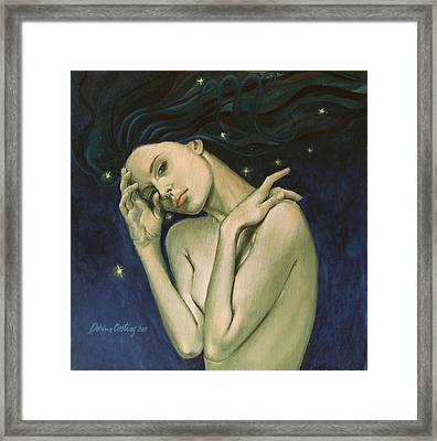 Virgo  From Zodiac Series Framed Print by Dorina  Costras