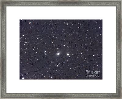 Virgo Galaxy Cluster Framed Print
