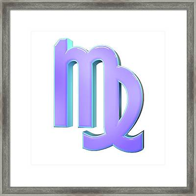 Virgo Sign Of The Zodiac Framed Print