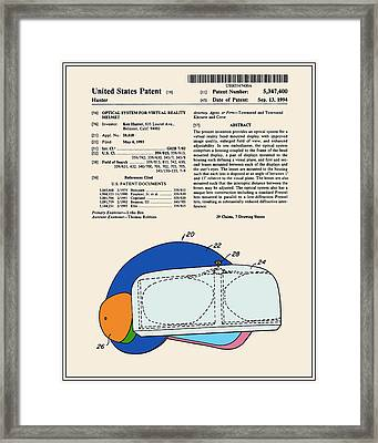 Virtual Reality Helmet Patent - Colour Framed Print