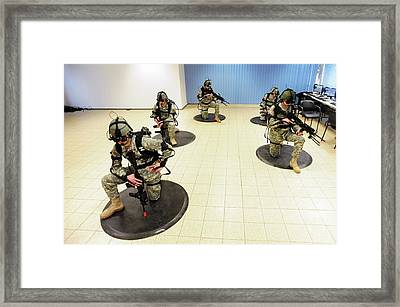 Virtual Reality Military Training Framed Print