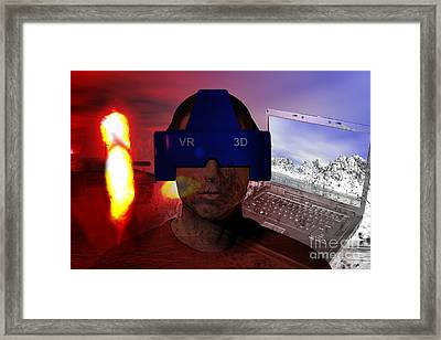 Virtual Reality Therapy Framed Print by Carol and Mike Werner