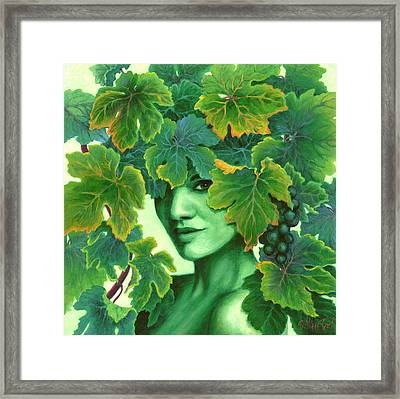 Virtue In The Vines Framed Print