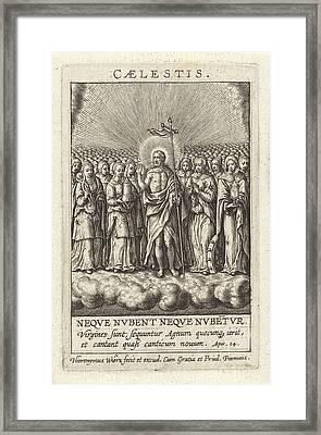 Virtue Of Heaven, Hieronymus Wierix Framed Print by Hieronymus Wierix