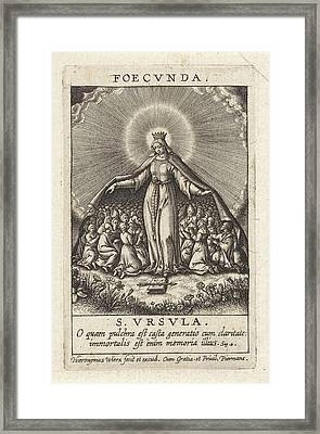Virtue Of The Fertile Ones, Hieronymus Wierix Framed Print