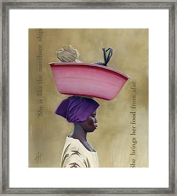 Virtuous Woman  Framed Print by Hannah  Harris