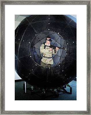 Virtusphere Military Training Aid Framed Print by Us Navy/john F. Williams