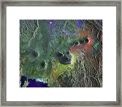 Virunga Mountains Framed Print by European Space Agency