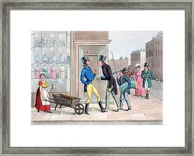 Vis A Vis, Illustration Framed Print by Daniel Thomas Egerton