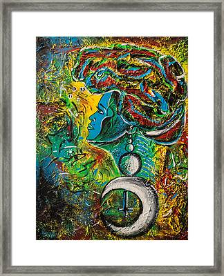 Visage Bleu Framed Print by Kenal Louis