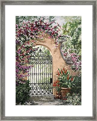 Viscaya Gate Framed Print