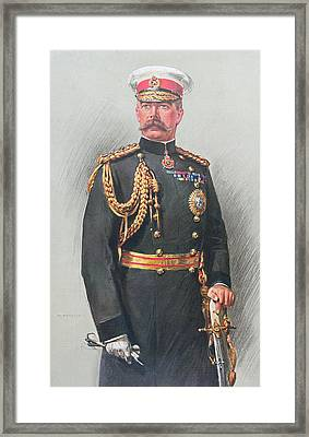 Viscount Kitchener Of Khartoum Framed Print by Walter Wallor Caffyn
