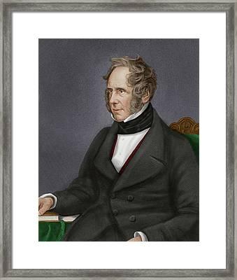 Viscount Palmerston Framed Print by Maria Platt-evans