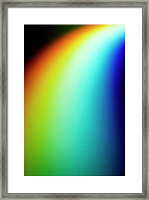 Visible Light Spectrum Framed Print by Crown Copyright/health & Safety Laboratory Science Photo Library