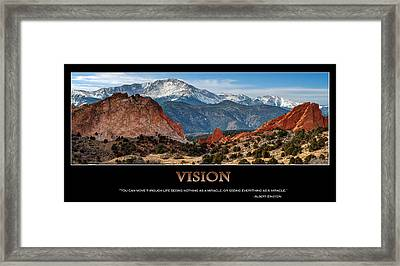 Vision - Inspirational Framed Print by Gregory Ballos