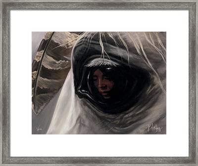 Vision Framed Print by Kim McElroy