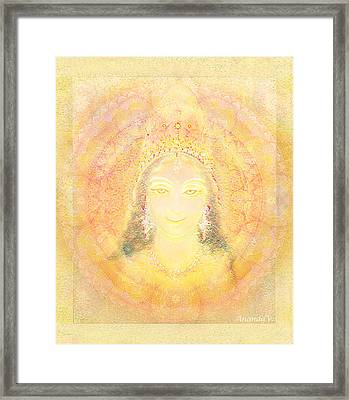 Vision Of A Goddess - A Being Of Light Framed Print by Ananda Vdovic