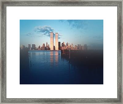 Vision Of A Great City Framed Print by Kellice Swaggerty
