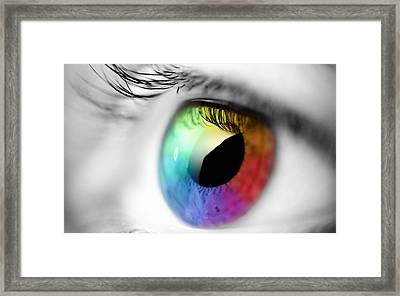 Vision Of Color Framed Print by Gianfranco Weiss