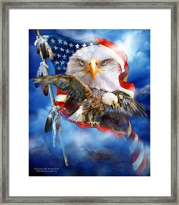 Vision Of Freedom Framed Print by Carol Cavalaris