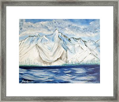 Vision Of Mountain Framed Print