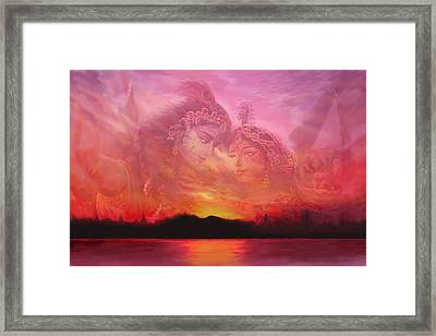 Vision Over The Yamuna Framed Print