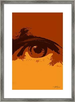 Vision Framed Print by Skip Tribby
