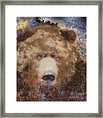 Visionary Bear Framed Print by Kim Prowse