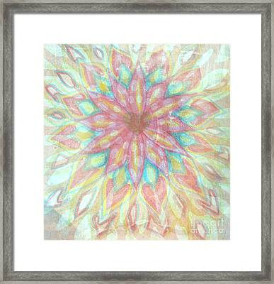 Visionary Crown Chakra Framed Print by Sacred  Muse