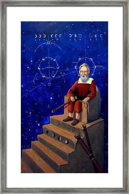 Visionary Of Stars Galileo Galilei  Framed Print