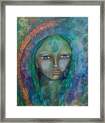 Visioning Woman Of Living Waters Framed Print by Havi Mandell