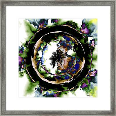 Visions Echo In The Crystal Ball Framed Print