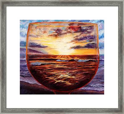 Visions In Merlot Framed Print by Mary Giacomini