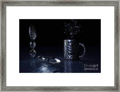 Framed Print featuring the digital art Visions Of Black by Jacqueline Lloyd