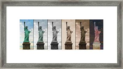 Visions Of Liberty Framed Print
