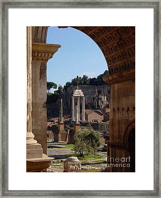 Visions Of Rome Framed Print by Nancy Bradley