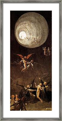 Visions Of The Hereafter - Ascent Of The Blessed Framed Print by Hieronymus Bosch