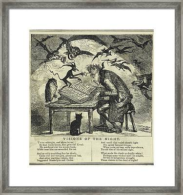 Visions Of The Night Framed Print