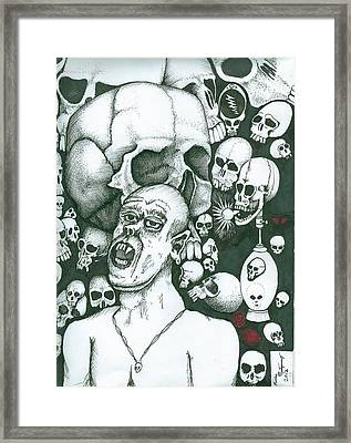 Framed Print featuring the painting Visions by Richie Montgomery