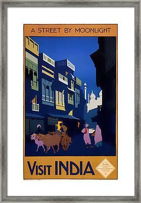 Visit India 1920 Framed Print