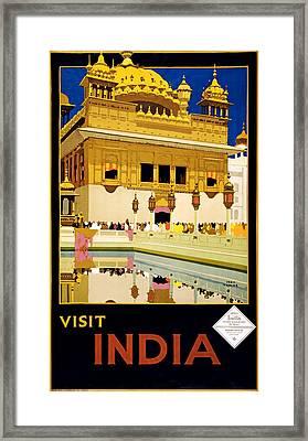 Visit India 1935 Framed Print