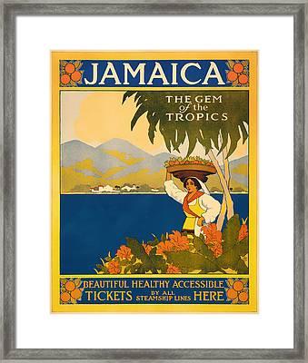 Visit Jamaica Framed Print
